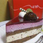 コージーコーナー カシスとマロンのケーキ