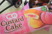 ロッテ「桃のカスタードケーキ」