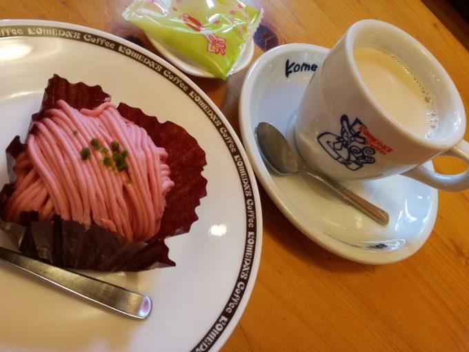 春色ケーキを食べに行こっ♪コメダ珈琲店「デザートセット」