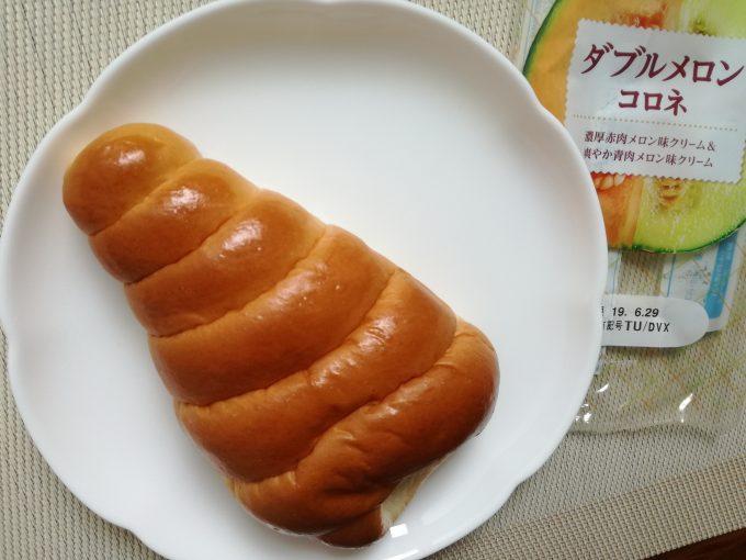メロンクリームが2種類楽しめる!神戸屋「ダブルメロンコロネ」