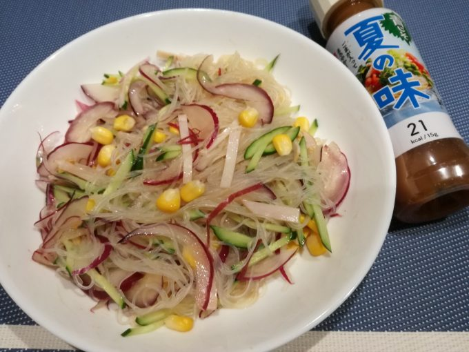 低カロリー涼風サラダ。リケン「ノンオイル 青じそ 夏の味」