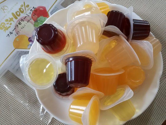 4つの味が楽しめる♪北野セレクション「果汁100%フルーツゼリーミックス」