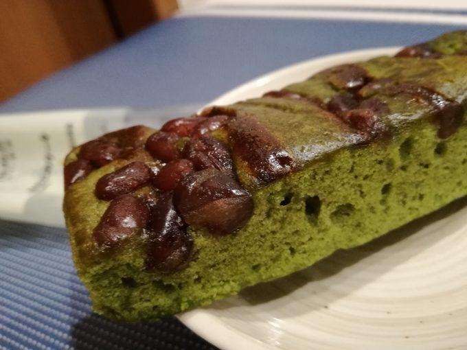和風テイストが美味。無印良品「不揃い 抹茶とかのこのケーキ」