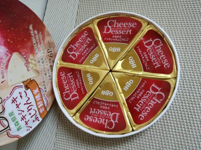 プチ贅沢な美味しさ♪QBB「チーズデザート 青森県産 シャキシャキふじりんご」
