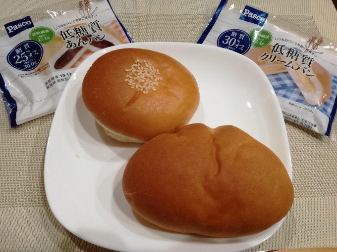 ロカボを意識する方に。パスコ「低糖質あんパン・低糖質クリームパン」