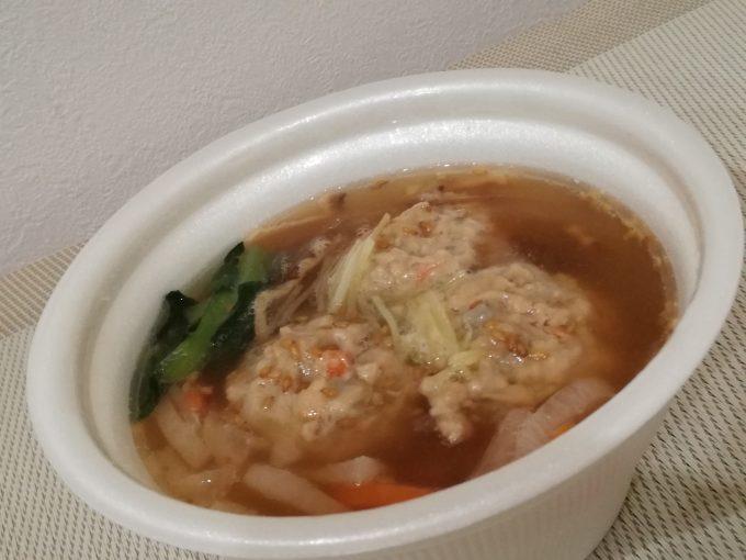 酢漬しょうがが決め手。ファミリーマート「根菜つくねの和風スープ」
